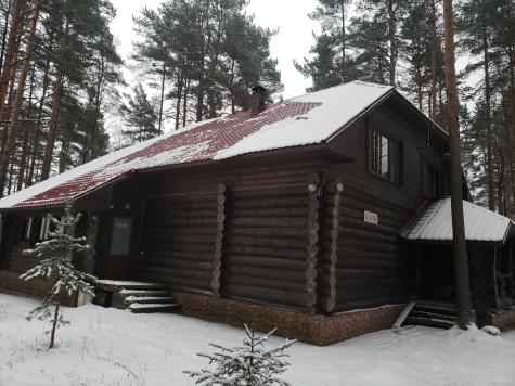 家庭住在小木屋